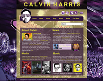Calvin Harris Website Design