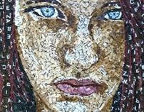 Broken Words - Scrabble Tile Mosaic