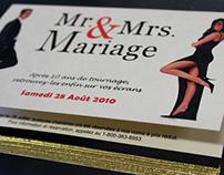 Faire-part mariage ''Mr. & Mrs. Smith''