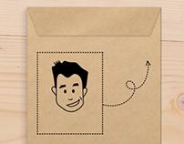 Vintage gift envelope
