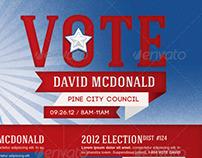 Voter Election Flyer Template Bundle-Vol 001