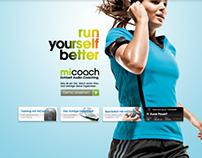 Adidas miCoach Microsite