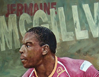 Sports Art - Jermaine McGillvary
