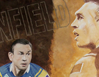 Sports art - Kevin Sinfield