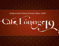 Cafe Loung Menu Sample Pages