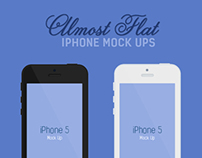 Free Almost Flat iPhone 5 Mockups