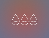 Three Drops Design Logo
