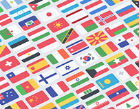 100 Free Flat Flags (PSD)