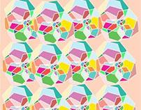 Shoujo Spin 2D Gem Pattern