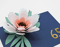 Paper Flower Pop-Up Card