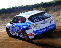 Rally Car Vinyls designed for Subaru Rally Team