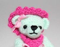 Sophie - crocheted miniature bear