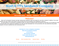 Web development and design for Nosh & Ty's Sandwich Co.