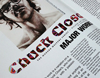 Chuck Close Magazine Spread