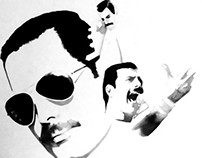 In progress Freddie Mercury illustration
