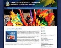 Website Embajada de Honduras en Francia