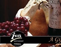 Ike's Restaurant Gift Card design