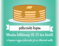 Pancake coupon, flyer