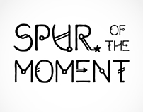 Font Design: Spur of the Moment