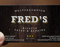 FRED'S - Fred Williams Cycles Business Cards