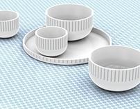 White Dessert Set