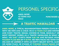 Infographic Personel Specification of traffic police