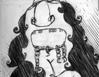 Ollainche pippiolla.    (Sardinia sketchbook)