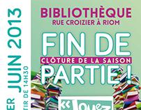 Bibliothèques Riom Communauté - Clôture de la saison