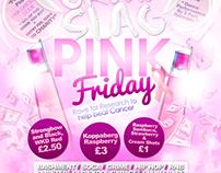 Night Club Flyer - (Urban Slag - Pink Friday)