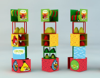 Display stand for Angry Birds
