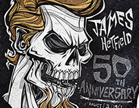 James Hetfield 50th Anniversary