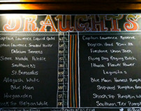 Chalk board Beer Menus