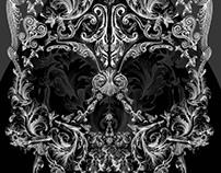 Ornarmental Skull - T-Shirt Illustration