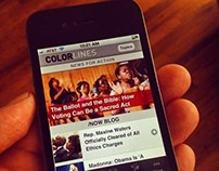 Colorlines.com Mobile Site, Design and Development