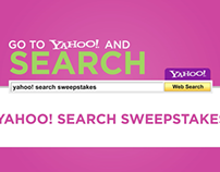 Yahoo Search Sweepstakes : Digital Signage Ads