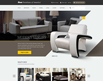 Furniture of America homepage design renewal. (~ing)