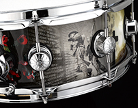 remembrance snare graphic wrap