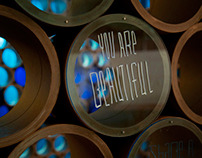 You Are Beautiful Wall