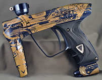 """""""Cyborg"""" Luxe 2.0 paintball marker"""