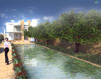 Urban design: Linear garden