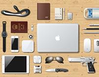 AI sketch -- Small portable items