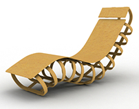 Bent Lamination Lounge Chair