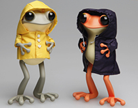 apo frogs : version raincoat