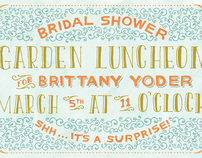 Garden Luncheon Invite