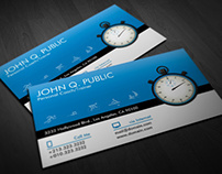 Modern Personal Trainer Business Cards