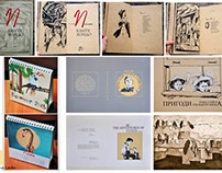 Different projects, book design and illustrations