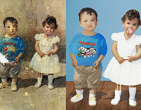 Restauração de Imagem Antiga - Crianças