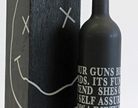 Nirvana inspired wine bottle & packaging.