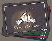 Concept Design for a Bank of Promises cover card