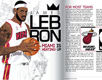 Lebron James two-page magazine editorial
